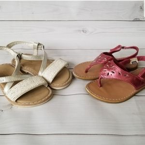 Baby/Toddler Girls Strappy Summer Sandals LOT 6